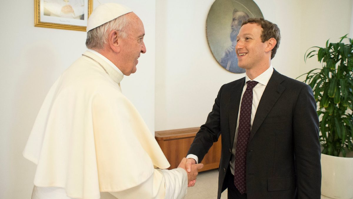 Mark Zuckerberg presentó «Aquila» al Papa Francisco